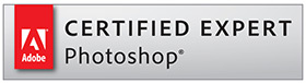 Certified Expert Photoshop badge - formazione